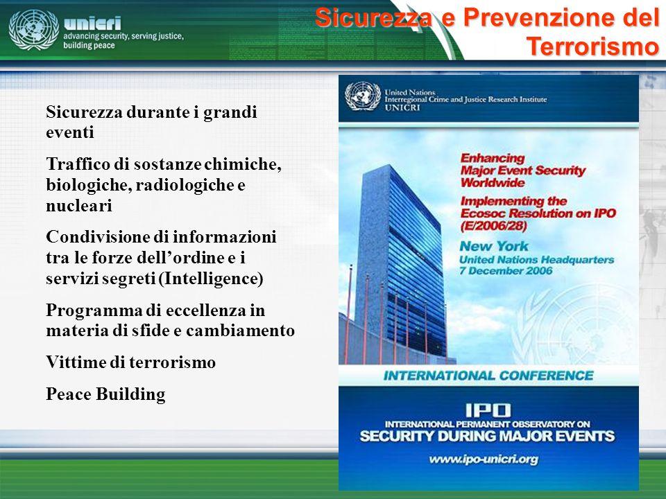 Sicurezza e Prevenzione del Terrorismo