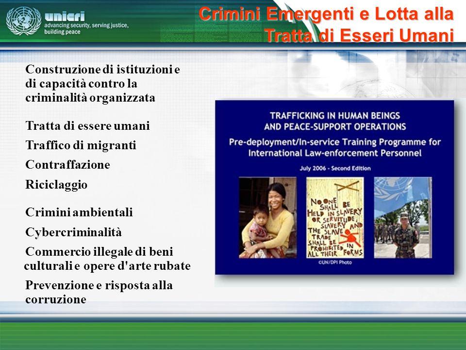 Crimini Emergenti e Lotta alla Tratta di Esseri Umani