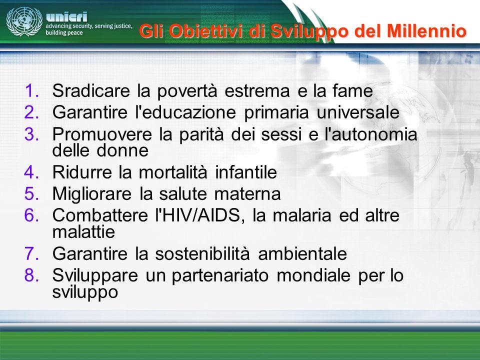 Gli Obiettivi di Sviluppo del Millennio