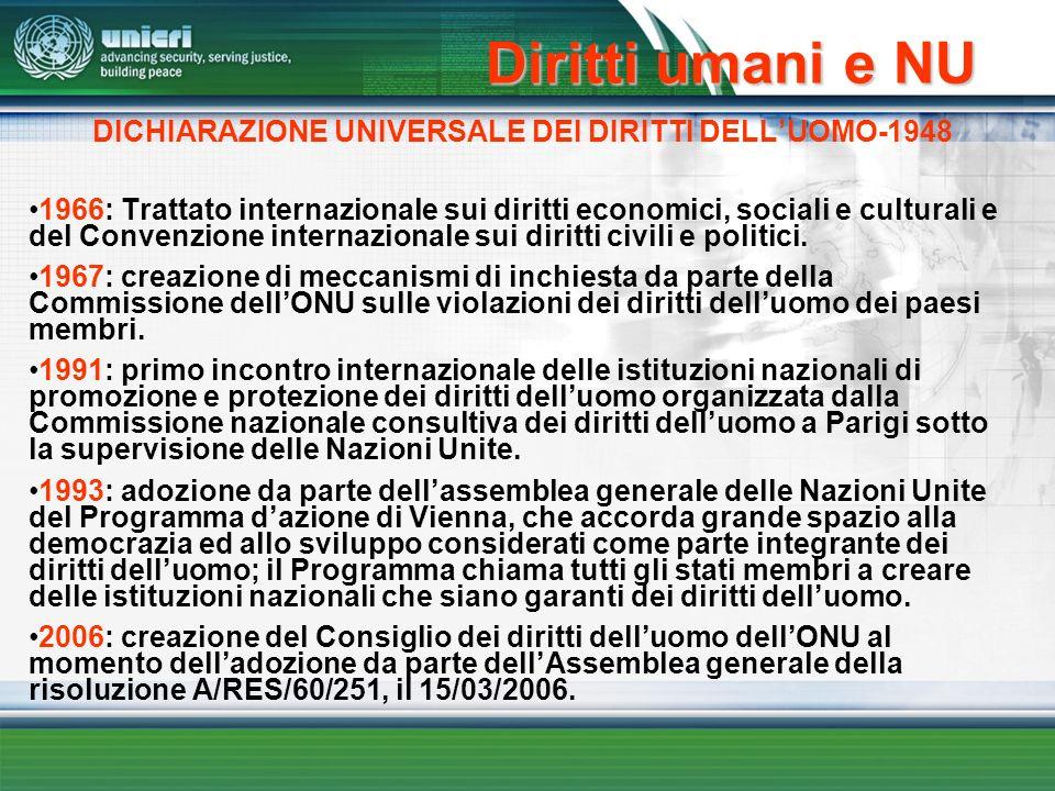 DICHIARAZIONE UNIVERSALE DEI DIRITTI DELL'UOMO-1948