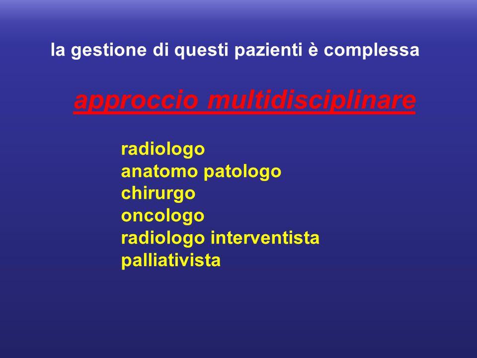 la gestione di questi pazienti è complessa