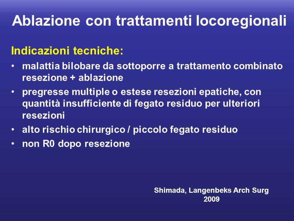 Ablazione con trattamenti locoregionali