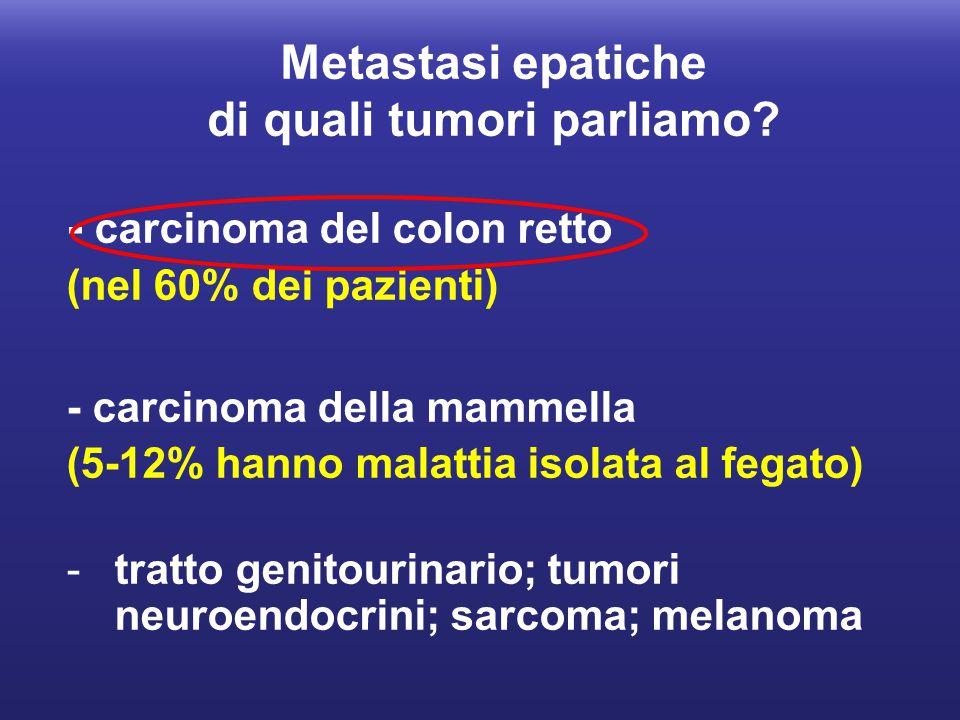 Metastasi epatiche di quali tumori parliamo