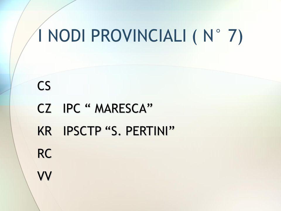 I NODI PROVINCIALI ( N° 7)