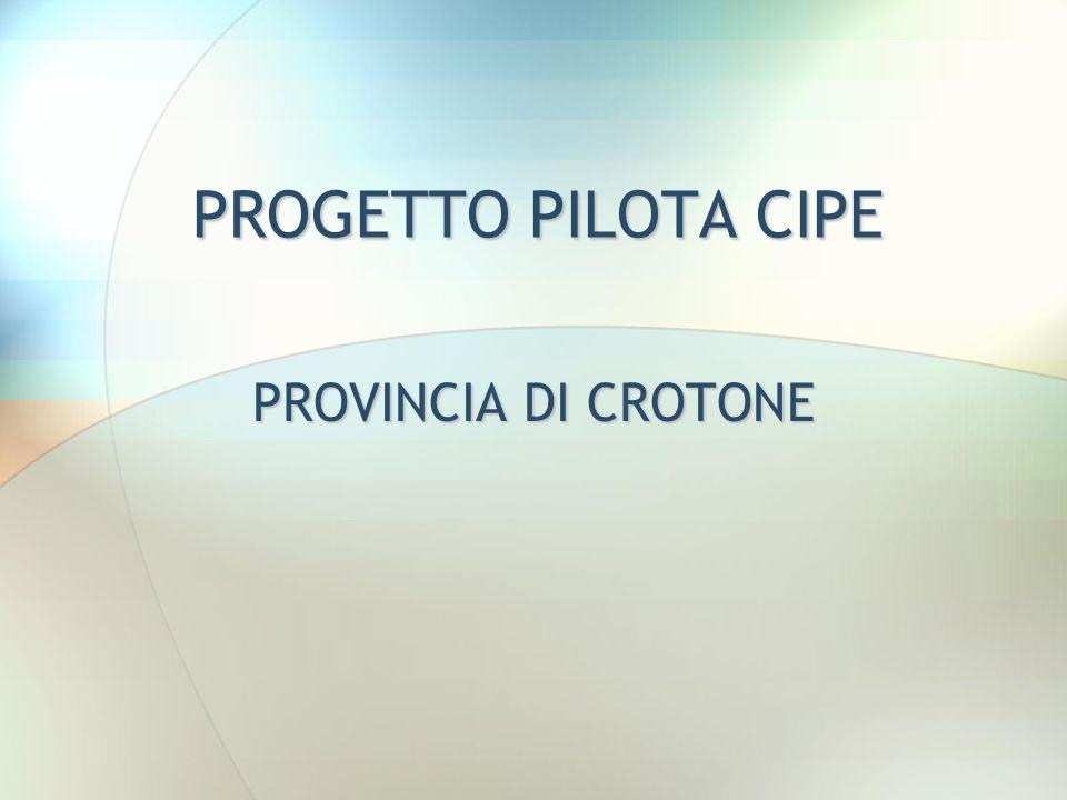 PROGETTO PILOTA CIPE PROVINCIA DI CROTONE 22