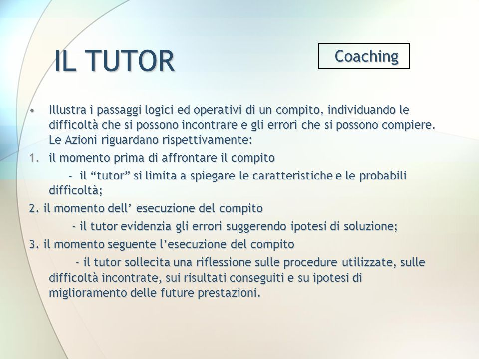 IL TUTOR Coaching.
