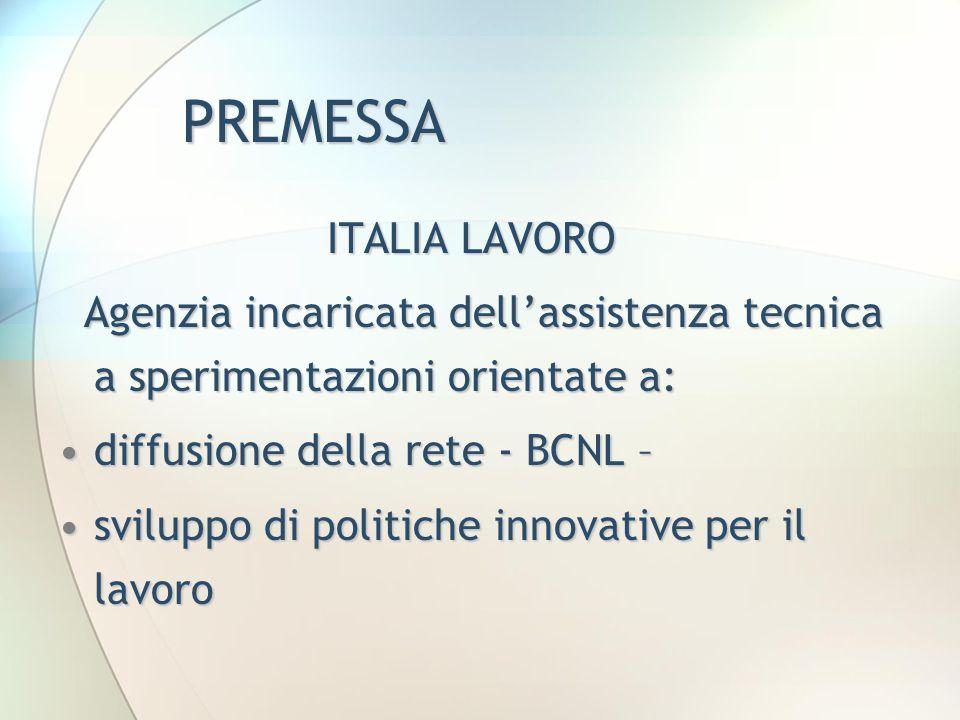 PREMESSA ITALIA LAVORO