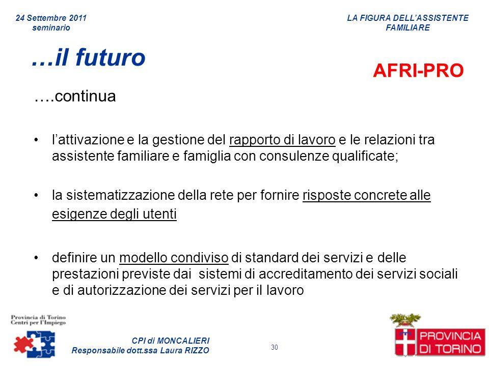 …il futuro AFRI-PRO ….continua