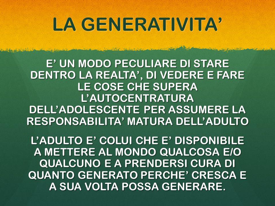LA GENERATIVITA'