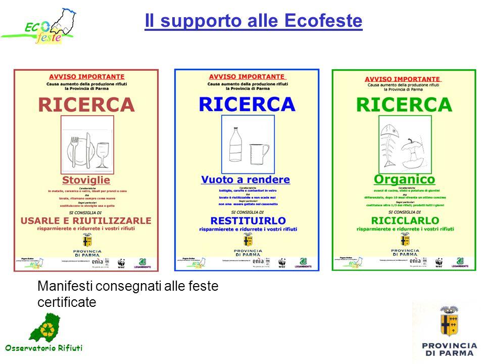 Il supporto alle Ecofeste