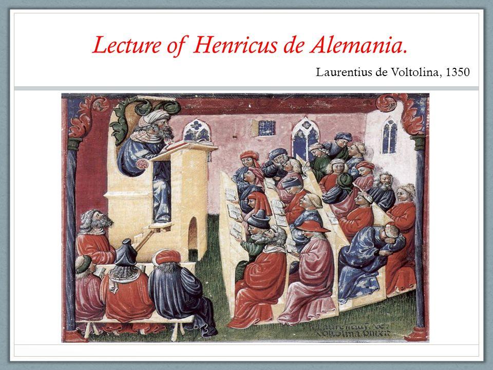 Lecture of Henricus de Alemania.