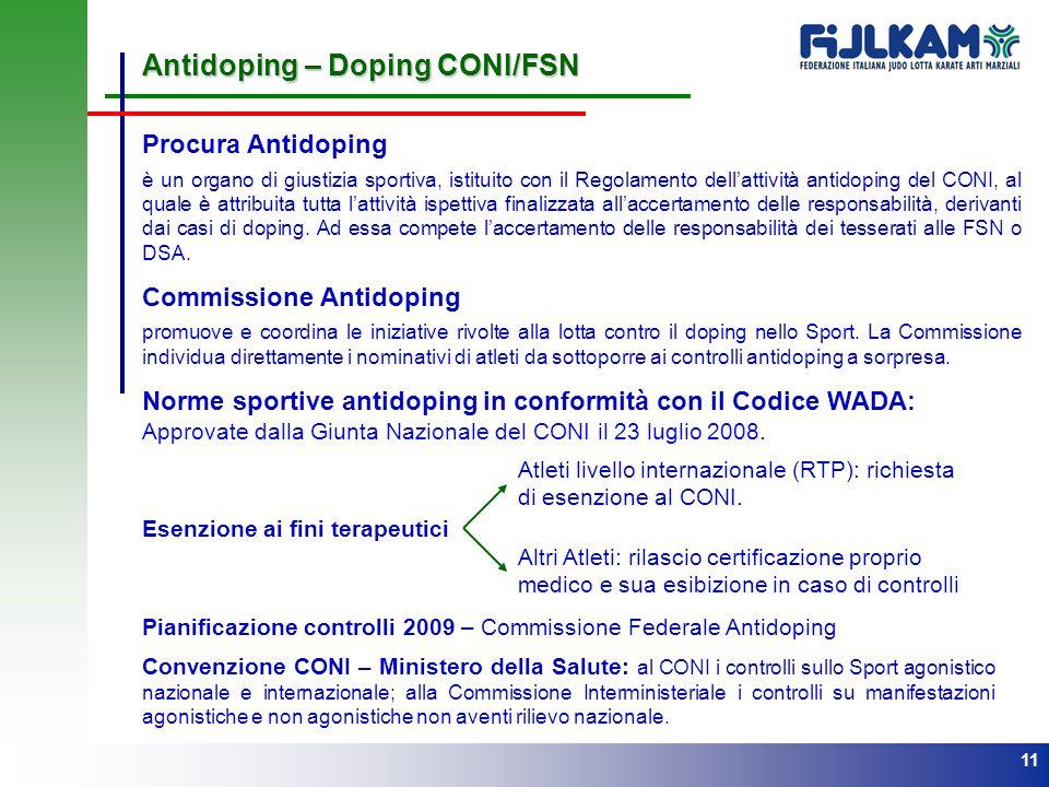 Antidoping – Doping CONI/FSN