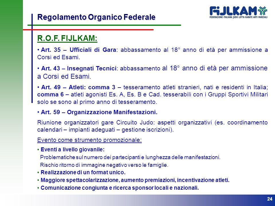 Regolamento Organico Federale