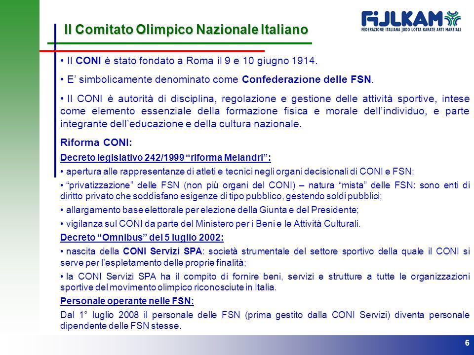 Il Comitato Olimpico Nazionale Italiano