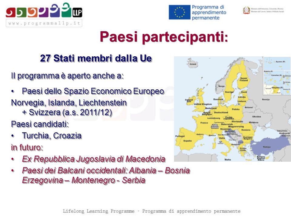 Paesi partecipanti: 27 Stati membri dalla Ue