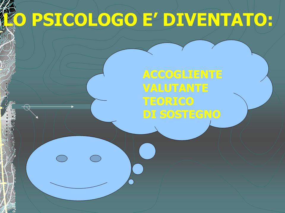 LO PSICOLOGO E' DIVENTATO: