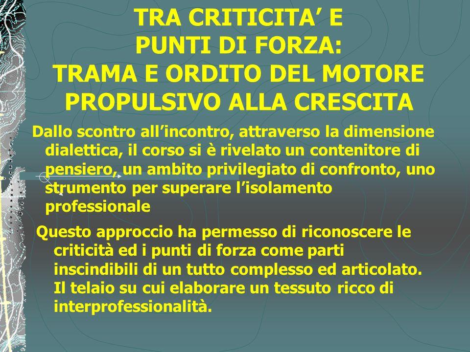 TRA CRITICITA' E PUNTI DI FORZA: TRAMA E ORDITO DEL MOTORE PROPULSIVO ALLA CRESCITA