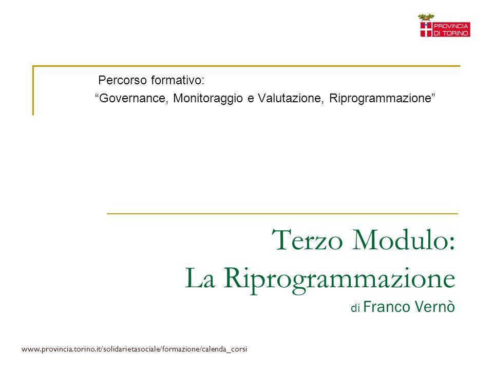 Terzo Modulo: La Riprogrammazione di Franco Vernò