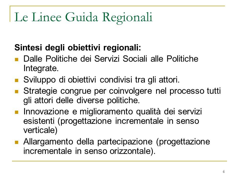 Le Linee Guida Regionali