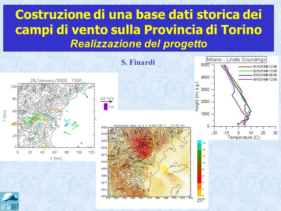 Costruzione di una base dati storica dei campi di vento sulla Provincia di Torino Realizzazione del progetto