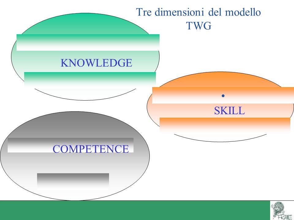 Tre dimensioni del modello TWG
