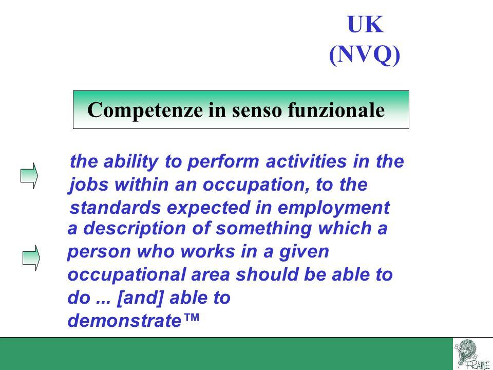Competenze in senso funzionale