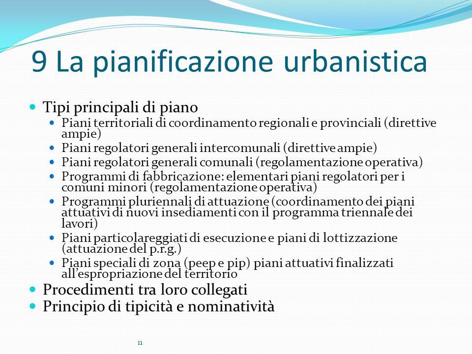 9 La pianificazione urbanistica