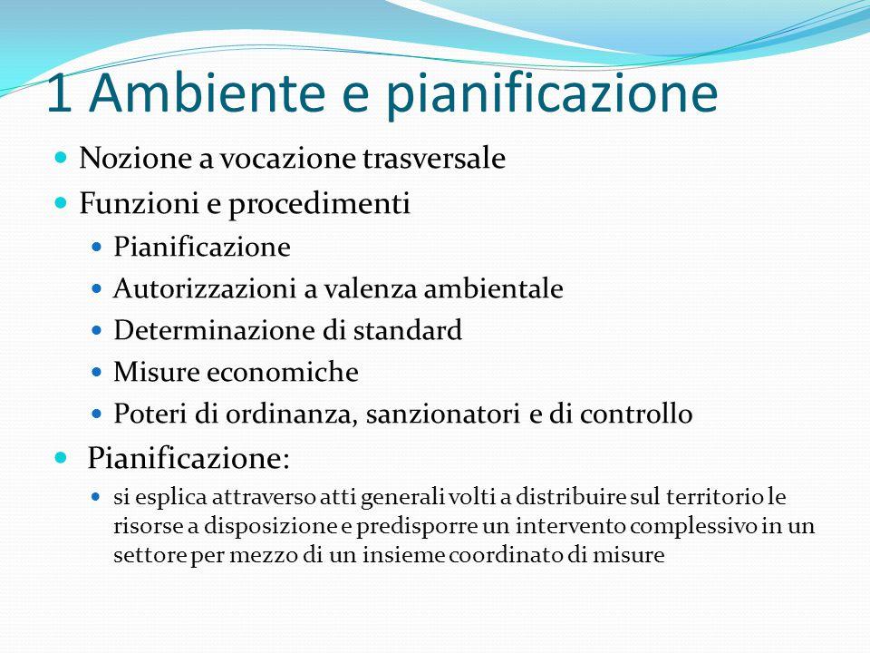 1 Ambiente e pianificazione