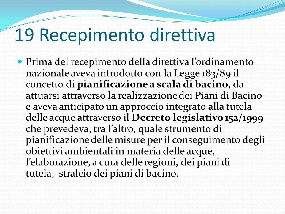 19 Recepimento direttiva