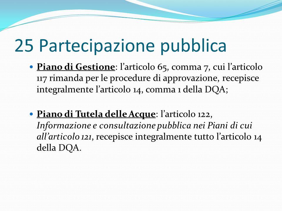 25 Partecipazione pubblica