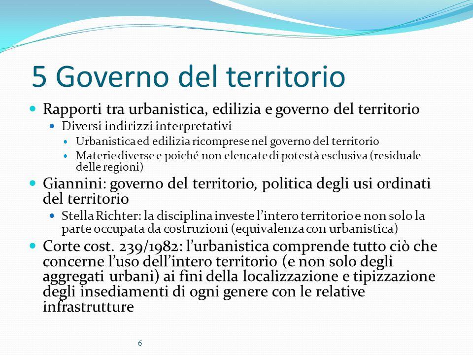 5 Governo del territorio