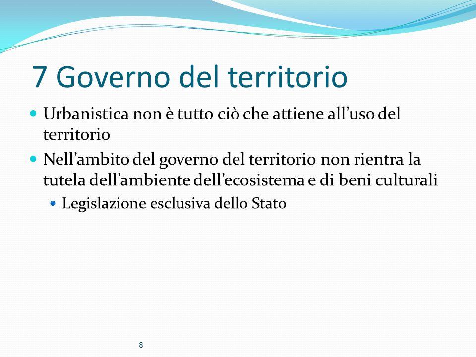 7 Governo del territorio