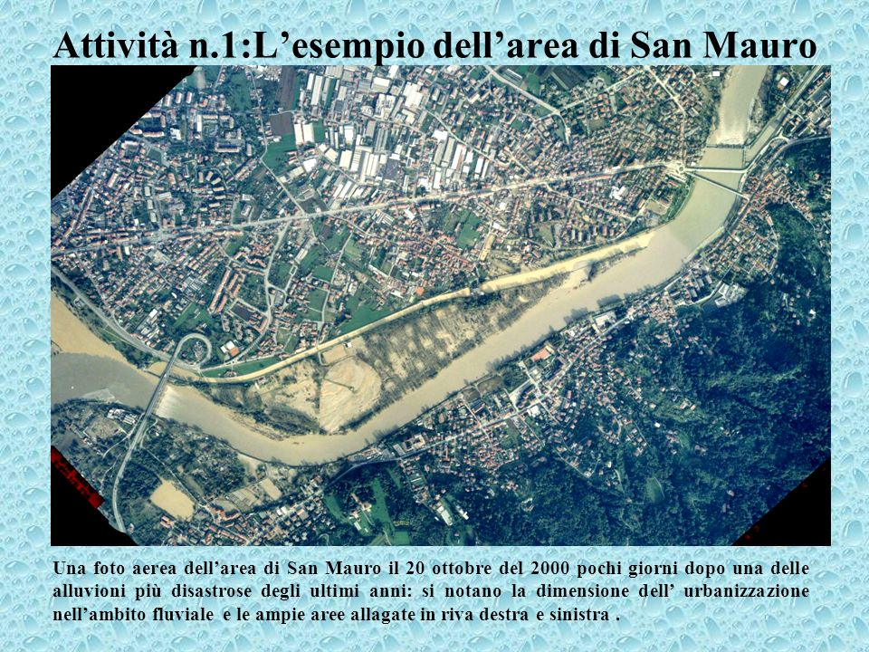 Attività n.1:L'esempio dell'area di San Mauro