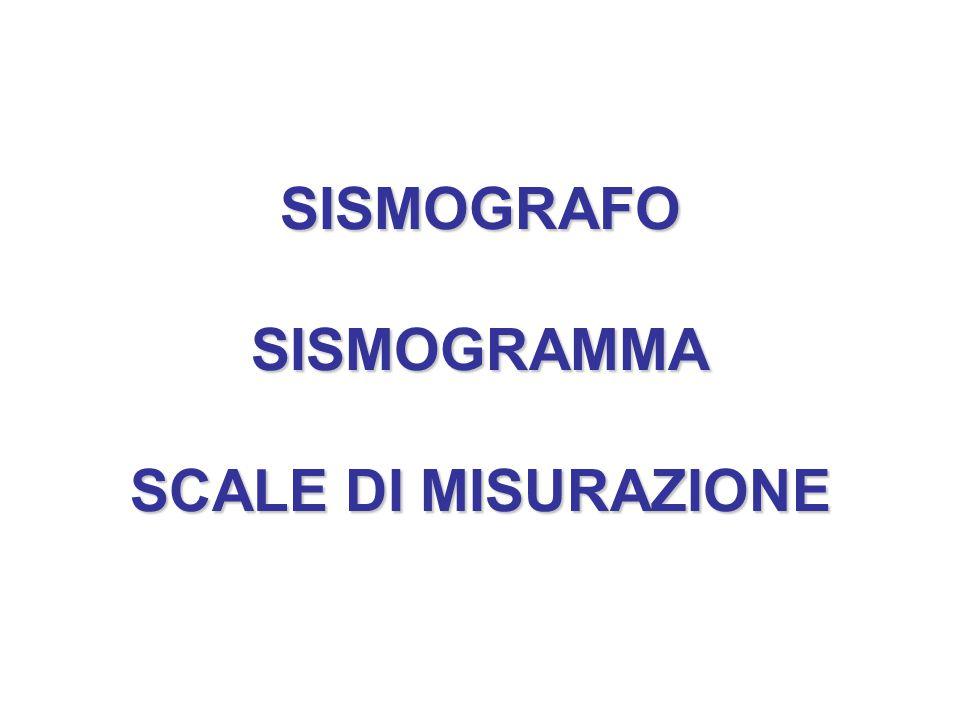 SISMOGRAFO SISMOGRAMMA SCALE DI MISURAZIONE