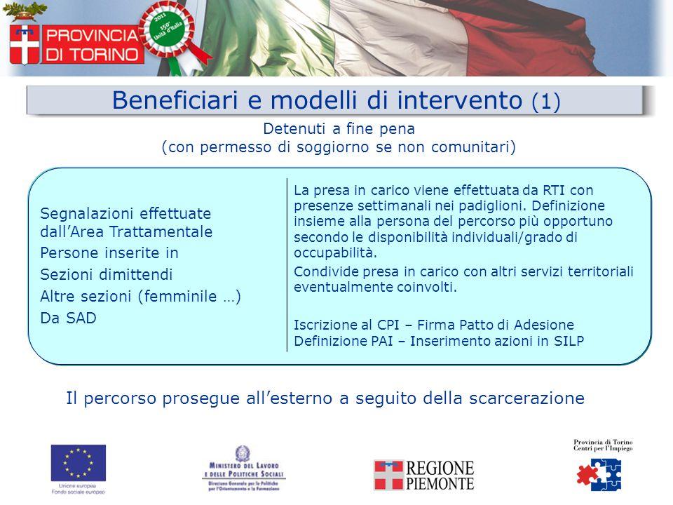 Beneficiari e modelli di intervento (1)