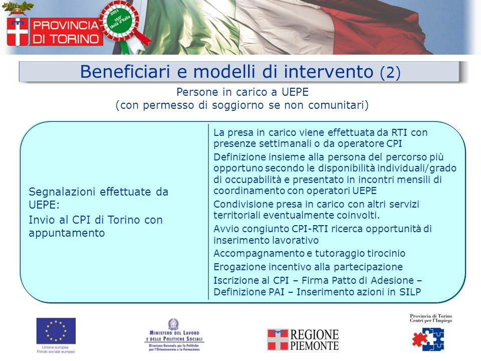 Beneficiari e modelli di intervento (2)