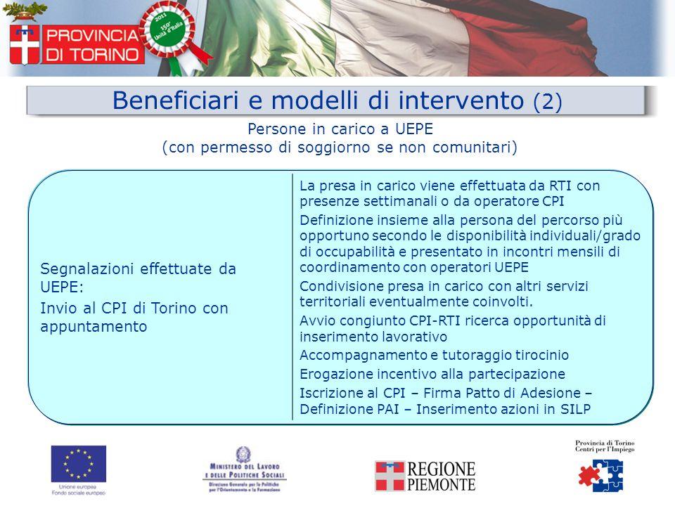 Beneficiari e modelli di intervento (2)