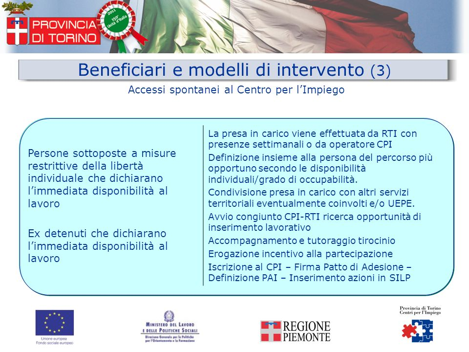 Beneficiari e modelli di intervento (3)