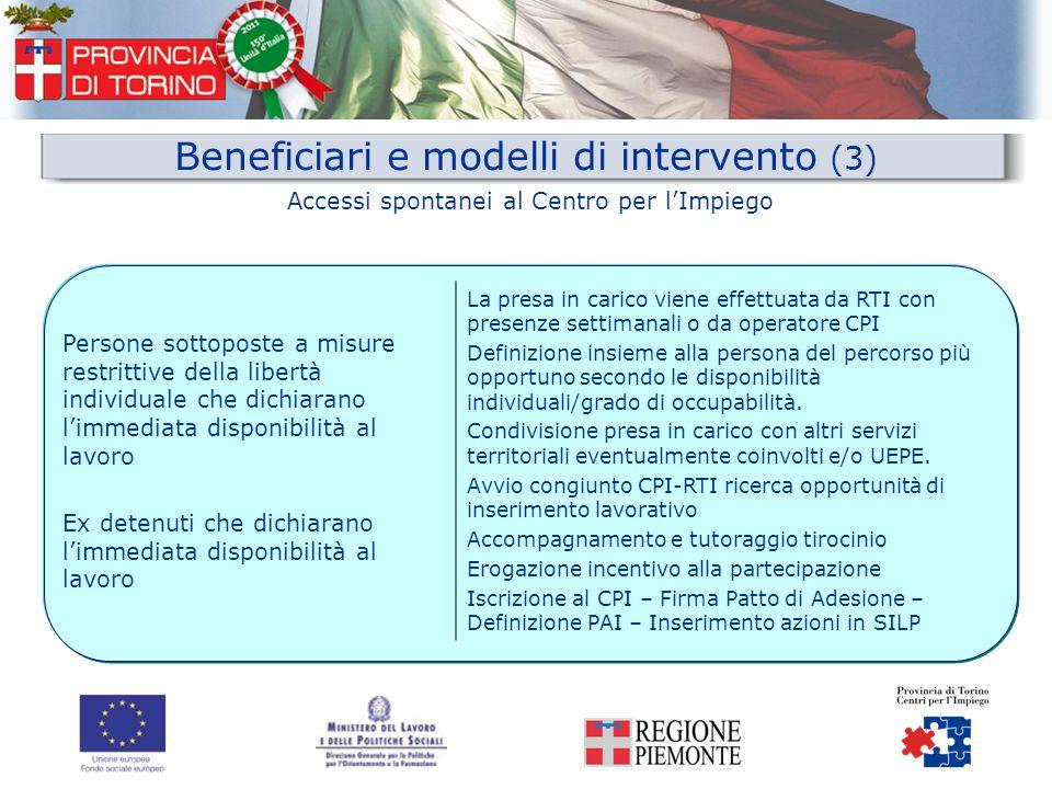 Beneficiari e modelli di intervento (3)