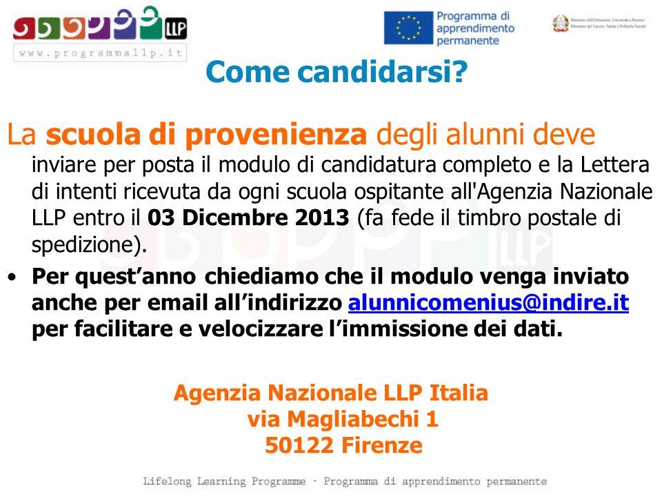 Agenzia Nazionale LLP Italia via Magliabechi 1 50122 Firenze