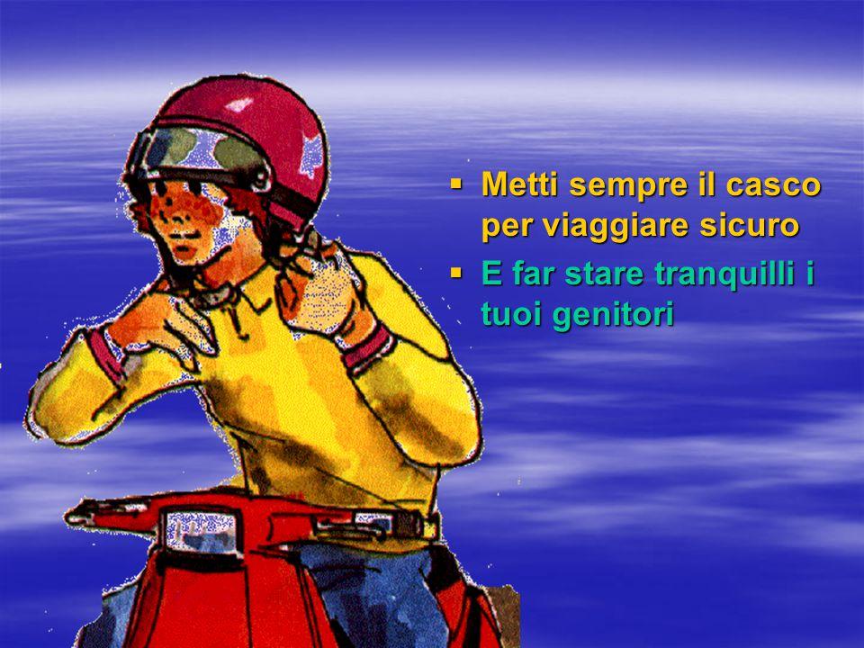 Metti sempre il casco per viaggiare sicuro