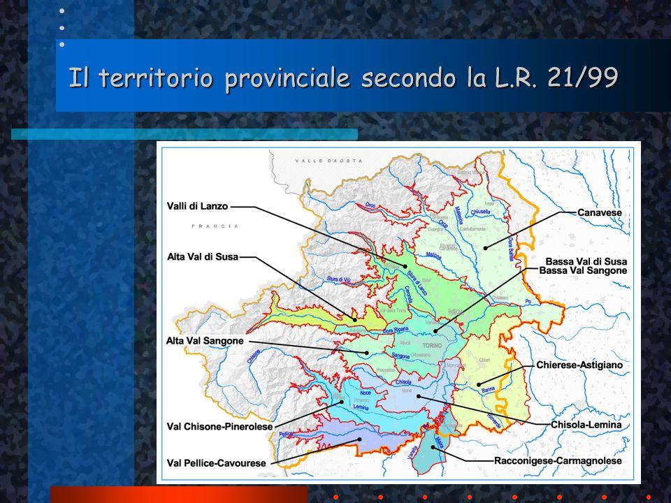 Il territorio provinciale secondo la L.R. 21/99