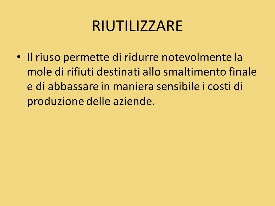 RIUTILIZZARE