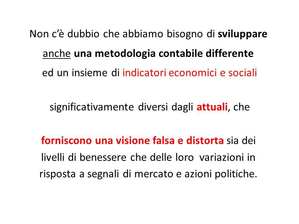 ed un insieme di indicatori economici e sociali