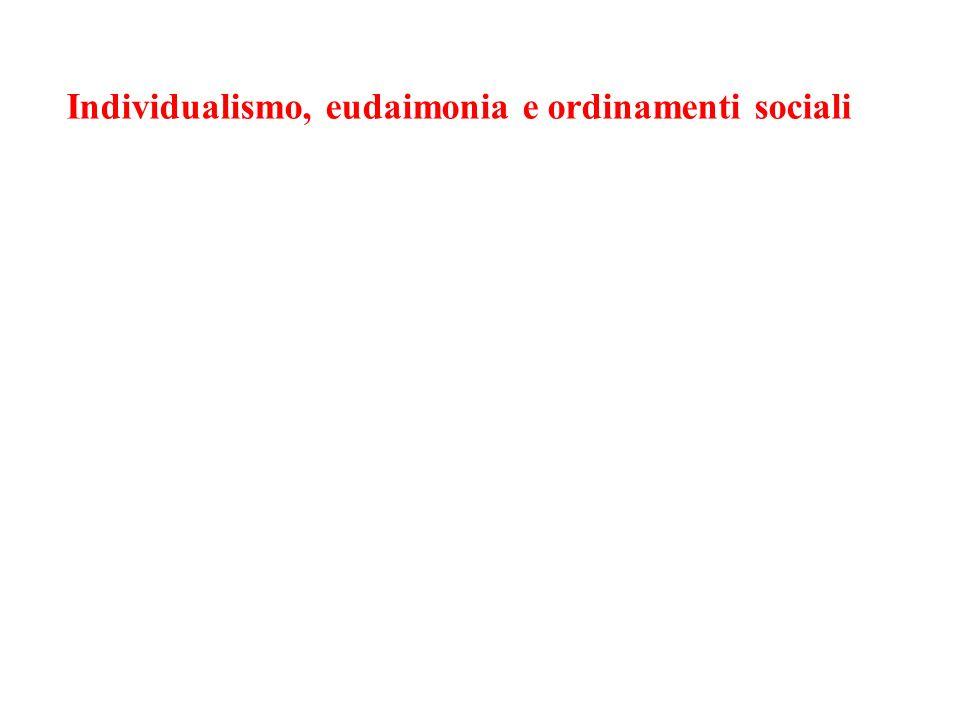 Individualismo, eudaimonia e ordinamenti sociali