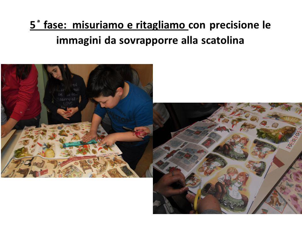 5 ͣ fase: misuriamo e ritagliamo con precisione le immagini da sovrapporre alla scatolina