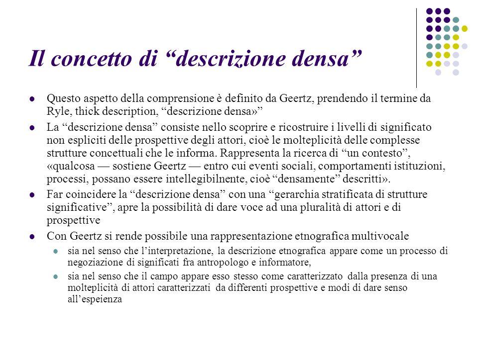 Il concetto di descrizione densa