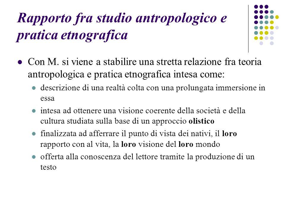 Rapporto fra studio antropologico e pratica etnografica