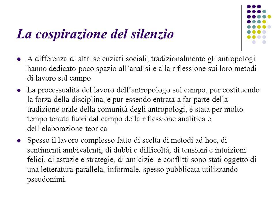 La cospirazione del silenzio