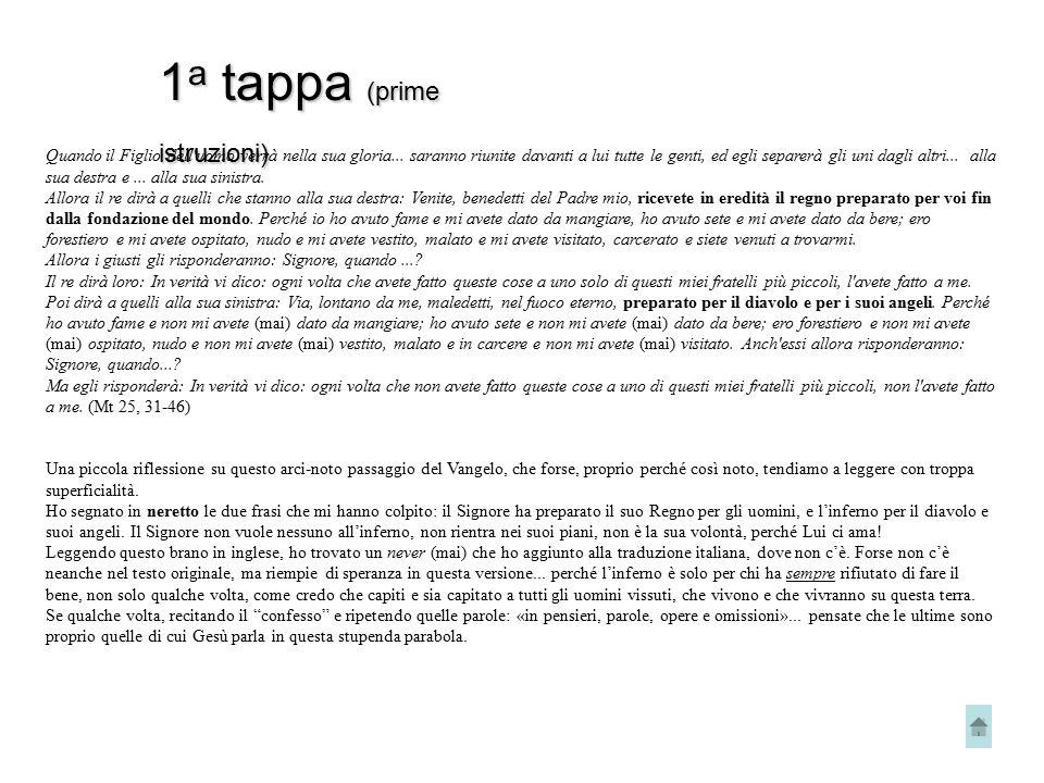 1a tappa (prime istruzioni)